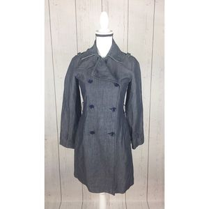 Banana Republic Double Breasted Trench Coat XS